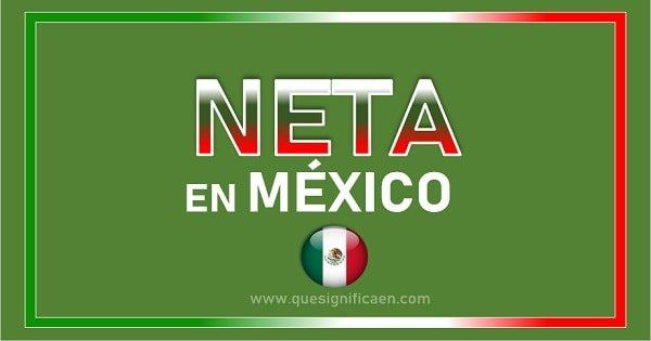 Significado de neta en México