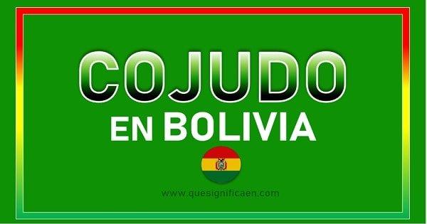 Significado de cojudo en Bolivia