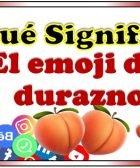 significado del emoji de durazno