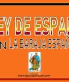 Que significa el rey de espadas en la baraja española
