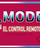 Que significa p.mode en el control remoto